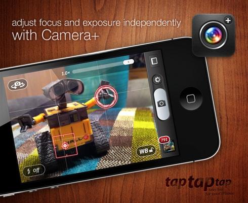Camera+ independent focus & exposure