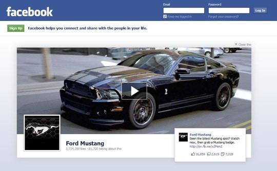 Ford Mustang Logout Ad