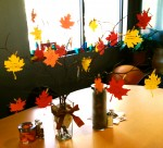 This year, we wrote our thanks on leaves that came together to create our Thanksgiving Tree. It also serves as our kitchen table centerpiece.