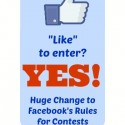 Facebook Contest Rules Update