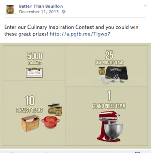 facebook culinary contest