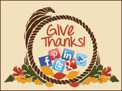 Thanksgiving social media