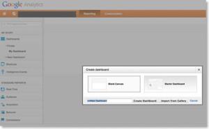 Adding a Google Analytics Dashboard