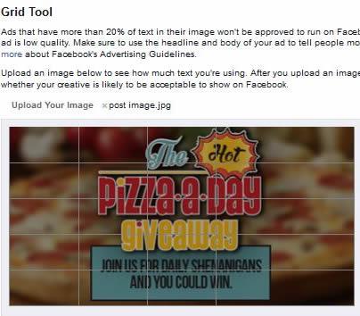 Facebook ad rules grid tool