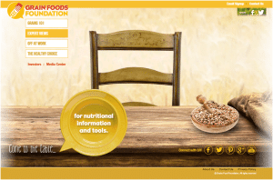 Grains Food Foundation Website Functionality