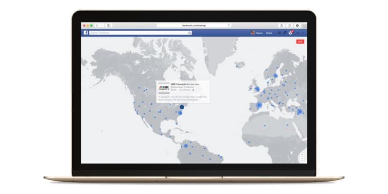 Facebook interactive map