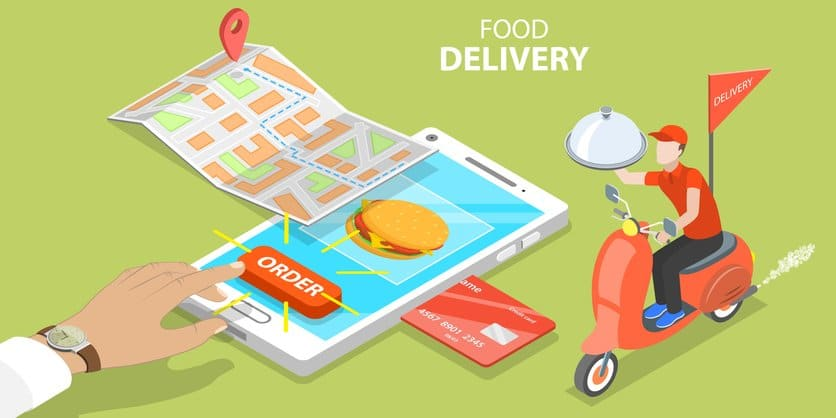 food take out and delivery on social media