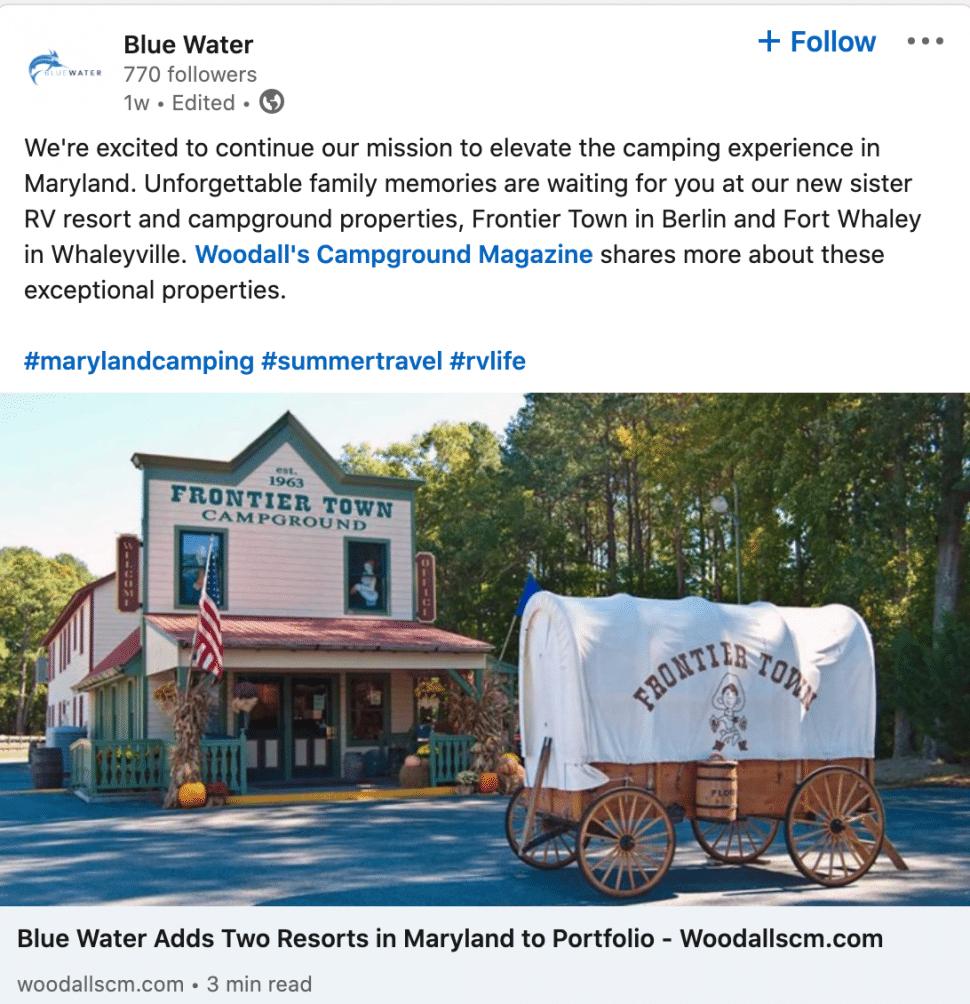 Screenshot of a PR placement shared on LinkedIn